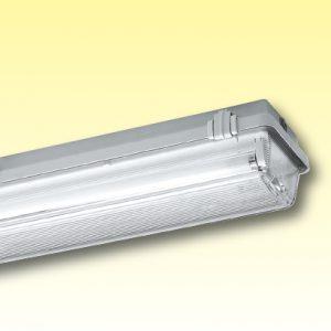 Пыле/водонепроницаемые светильники из полиэстера с диффузором — класс изоляции II серия 161/162…