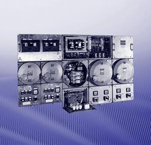 Взрывозащищенные (ЕЕх d, EEx ed) модульные коммутационные и распределительные устройства из армированного стекловолокном полиэстера и металла
